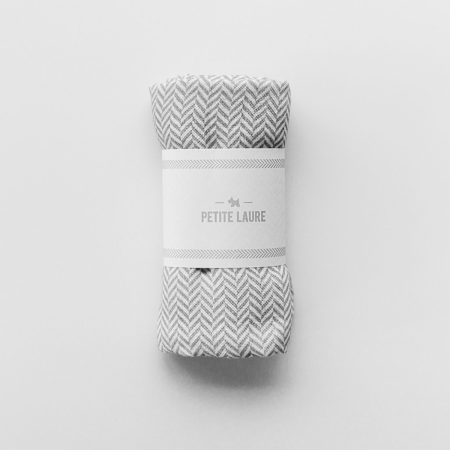 Baby Swaddle Herringbone Grey