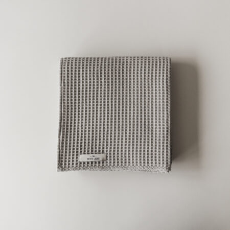 Waffle Baby Cotton Blanket Gray Petite Laure
