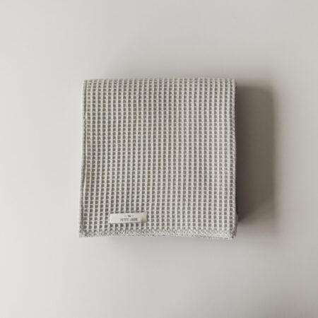 Light grey waffle baby blanket