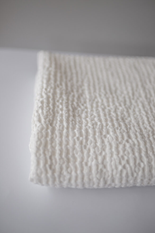 Waffle Linien Baby Blanket - Cream
