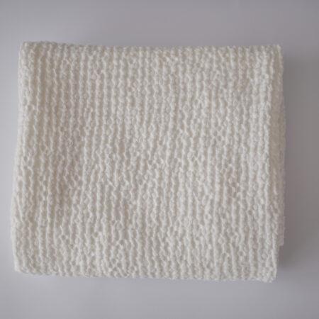Waffle Linien Baby Blanket - Cream White