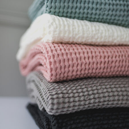 Waffle Linien Baby Blankets