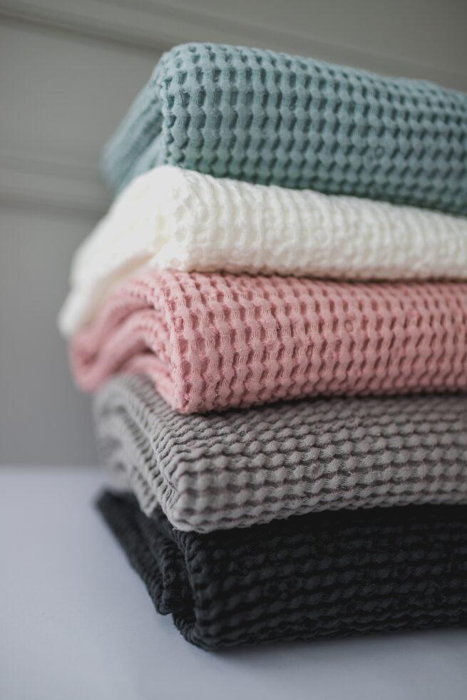 Waffle Linien Baby Blankets