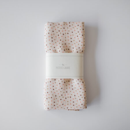 Baby Bamboo Swaddle Dots Pink/Carmel