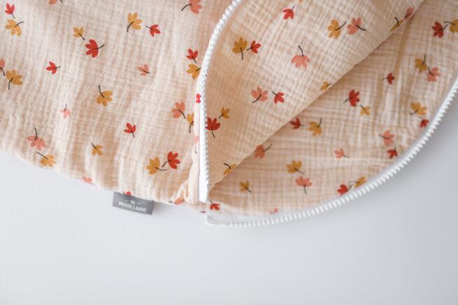 """Baby Sleeping Bag - Leaves Beige Size """"S"""""""